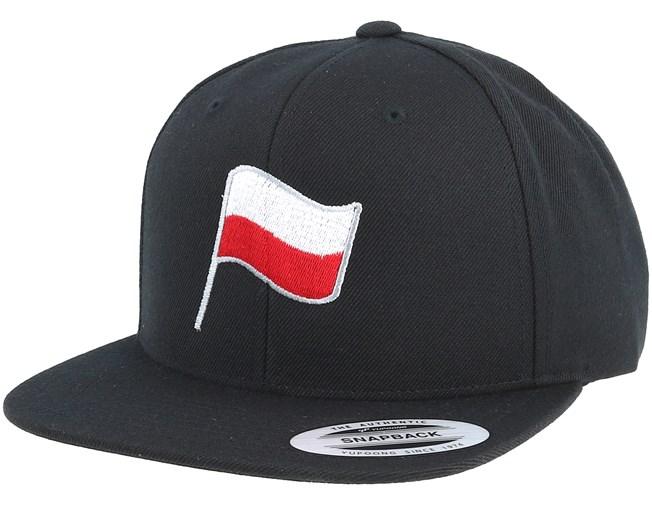 f7b9ba7cf1c Poland Flag Black Snapback - Forza cap - Hatstore.co.in