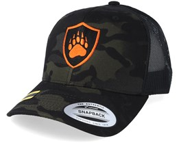 Crestprint Black Camo Trucker - Hunter