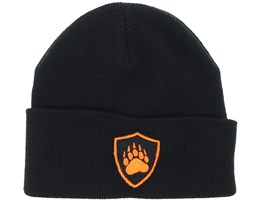 Crestprint Black Fold Beanie - Hunter