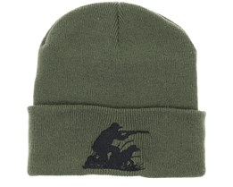 Hunting Team Olive Fold Beanie - Hunter