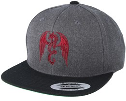 Dragon Heather Charcoal/Black Snapback - Tattoo Collective