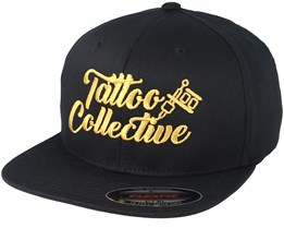 Logo Black/Gold Flexfit - Tattoo Collective