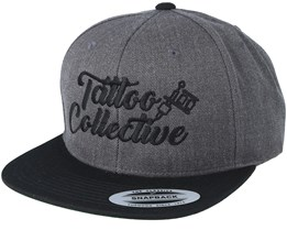 Logo Charcoal/ Black Snapback - Tattoo Collective