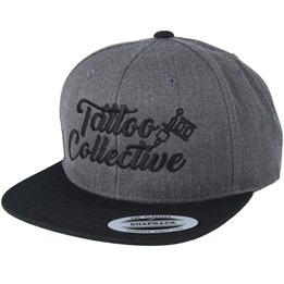 Tattoo Collective Logo Charcoal  Black Snapback - Tattoo Collective  29.99 97eab5a7cab4