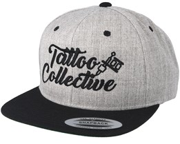 Logo Heather Grey/Black Snapback - Tattoo Collective