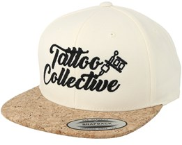 Logo White/Cork Snapback - Tattoo Collective