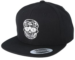 Day Of The Dead Black/White Snapback - Tattoo Collective