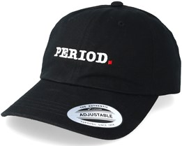 Clean Typo Black Dad Hat - Period