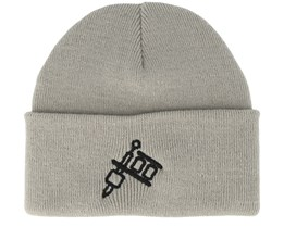 Tattoo Machine Grey Beanie - Tattoo Collective