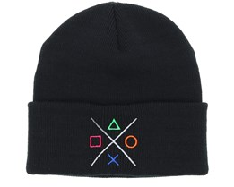 Buttons Black Beanie - Gamerz