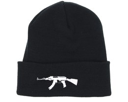 AK47 Black Beanie - Guns n Skulls