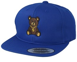 Kids Bling Bling Teddy Blue Snapback - Kiddo Cap
