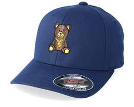 Kids Bling Bling Teddy Blue Flexfit - Kiddo Cap