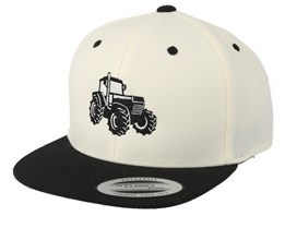 Kids Big Tractor White/Black Snapback - Kiddo Cap
