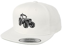 Kids Big Tractor White Snapback - Kiddo Cap