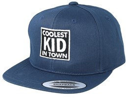 Kids Coolest Kid In Town Navy Snapback - Kiddo Cap
