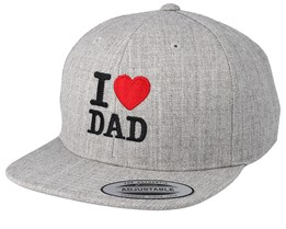 Kids I Love Dad Grey Snapback - Kiddo Cap