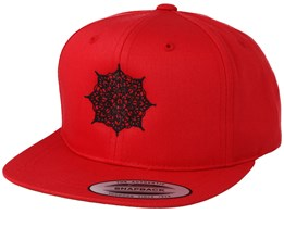 Kids Mandala Red Snapback - Kiddo Cap