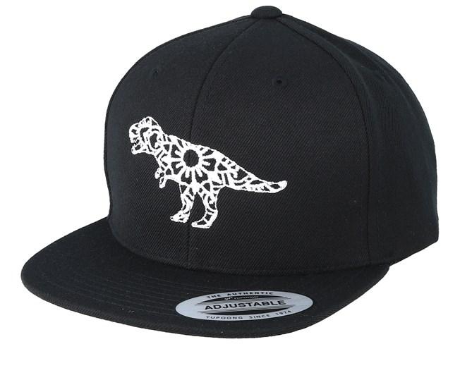 2ae5fca95 Kids Mandala T-Rex Black Snapback - Kiddo Cap caps | Hatstore.co.uk