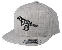 Kids Mandala T-Rex Grey Snapback - Kiddo Cap