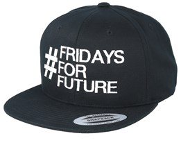 Fridays For Future Black Organic Snapback - Iconic