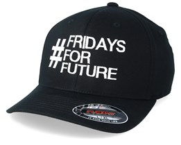Fridays For Future Black Organic Flexfit - Iconic