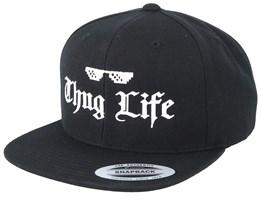 Thug Life Black Snapback - Iconic