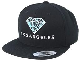 Los Angeles Diamond Black Snapback - Iconic