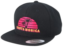 Santa Monica Black Snapback - Iconic