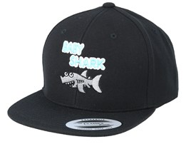 Kids Baby Shark Black Snapback - Kiddo Cap