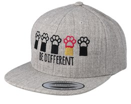 Kids Be Different Heather Grey Snapback - Kiddo Cap