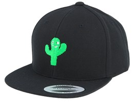 Kids Cactus Monster Black Snapback - Kiddo Cap