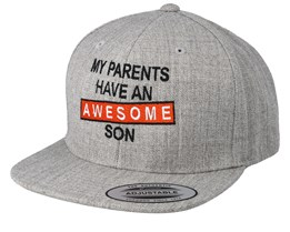 Kids Awesome Son Heather Grey Snapback - Kiddo Cap