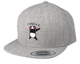 Kids Pandab Heather Grey Snapback - Kiddo Cap