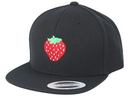 Kids Strawberry Black Snapback - Kiddo Cap
