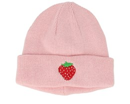 Kids Strawberry Pink Beanie - Kiddo Cap