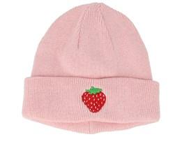 Kids Strawberry Pink Beanie - Kiddo Cap