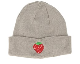 Kids Strawberry Grey Beanie - Kiddo Cap