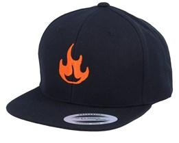 Kids Fire Black Snapback - Kiddo Cap