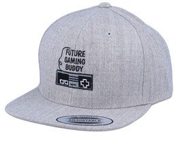 Kids Gaming Buddy Heather Grey Snapback - Kiddo Cap