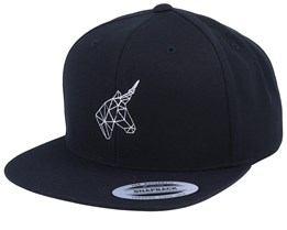 Geometric Unicorn Black Snapback - Unicorns
