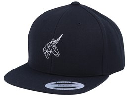 Kids Geometric Unicorn Black Snapback - Unicorns