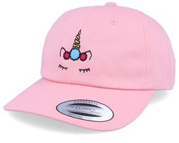 Unicorn Flower Pink Dad Cap Adjustable - Unicorns