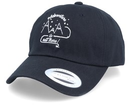 Adventure Is Out There Black Dad Cap Adjustable - Bacpakr