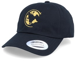 Around The World Black Dad Cap Adjustable - Bacpakr