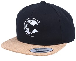 Around The World Cork Black Snapback - Bacpakr