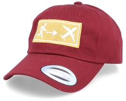 Travel Exit Sign Maroon Dad Cap Adjustable - Bacpakr