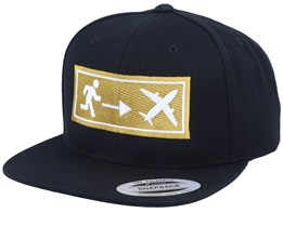 Travel Exit Sign Black Snapback - Bacpakr