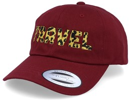 Travel Maroon Dad Cap Adjustable - Bacpakr