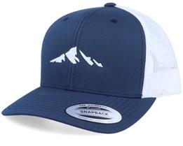 Mountain Silhouette Navy White Trucker  - Iconic